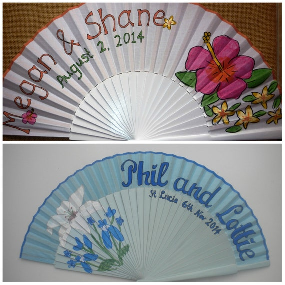WEDDING Hand Fan Bridal Alternative Bouquet SIZE OPTIONS Any Color Fan any Flower Wooden Handheld Folding Made to order