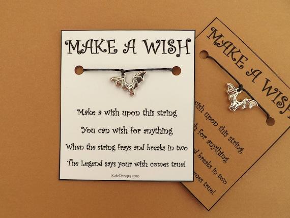 Halloween Bat Wish Bracelet