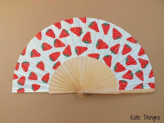 Strawberry Hand Fan