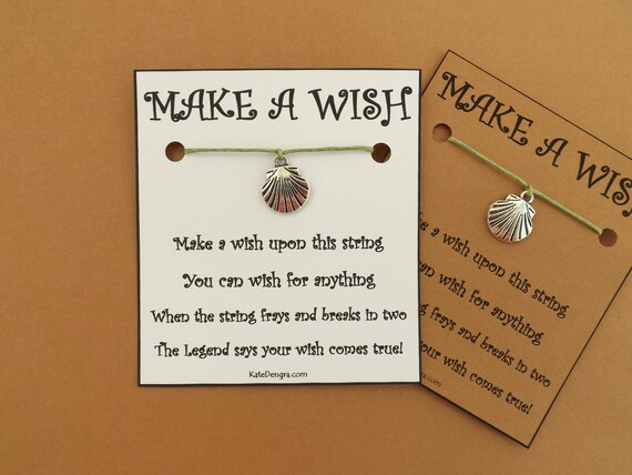 Scallop Shell Ocean Sea Wish Bracelet