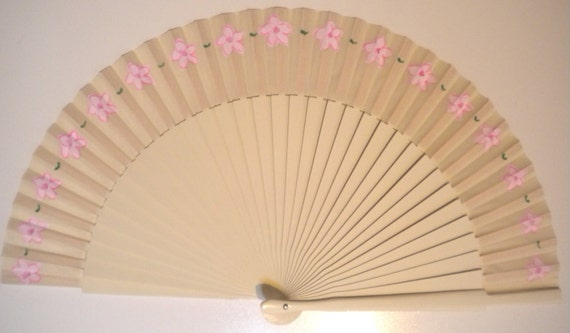 Alternative Bouquet SIZE OPTIONS Bridal Any Color Dainty Flowers Handheld Folding Fan MTO Made to order