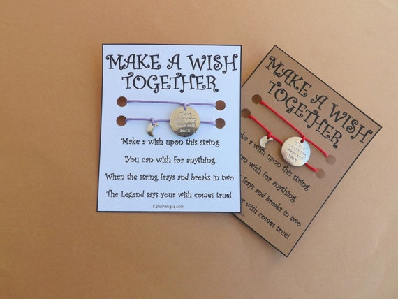 I Love You To The Moon And Back and Mini Moon Double Wish Bracelet