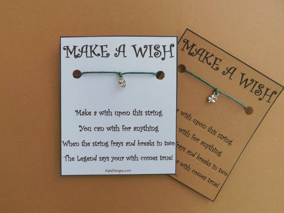 Tiny Shamrock Irish Clover Wish Bracelet