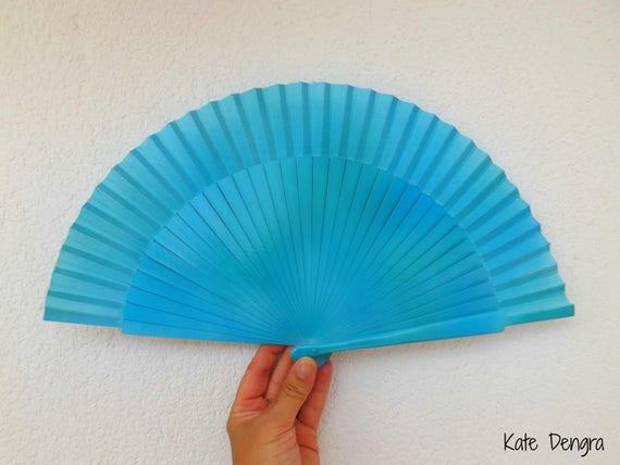 Sea Blue Bling Hand Fan