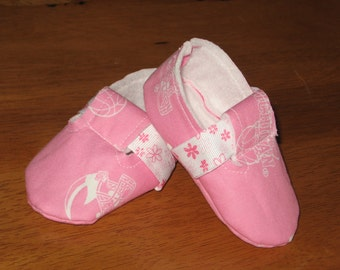 newborn girl fabric sports baby shoes - pink Michigan