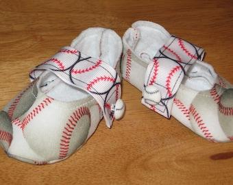 newborn unisex fabric sports baby shoes - baseball