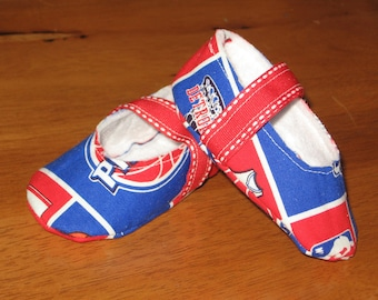 Detroit Pistons NBA fabric baby shoes