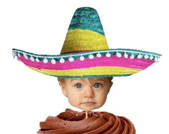 Mexican Sombrero Cupcake Toppers ab86c1ecfb1