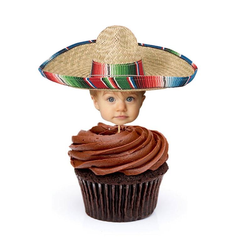 83c3bc5056c Mexican Sombrero Cupcake Toppers Mexican Sombrero Cake