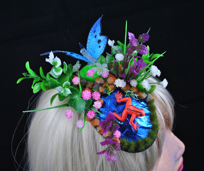 Festival Frog Hat UV Mermaid Fascinator Water Themed