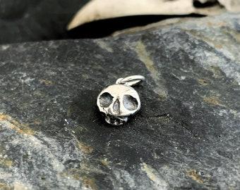 Skull Charm - 'Roger' Silver skull charm, skull pendant, skeleton charm