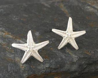 Little starfish ear studs, earrings, shell