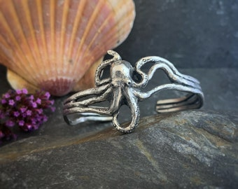 Octopus Bracelet- Hector, silver octopus, octopus jewellery, octopus jewelry