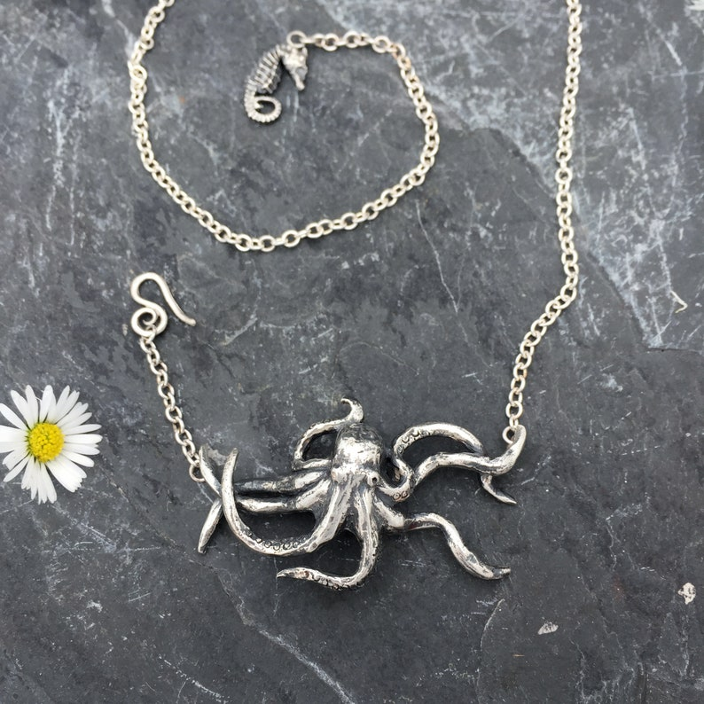 Hector the Octopus pendant Octopus necklace