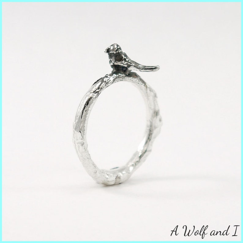 Bird Twig Ring sterling silver /'Pete/'