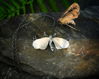 Moth Necklace 'Frida' - moths, moth pendant, butterfly necklace, moth jewellery, moth jewelry, fairytale necklace