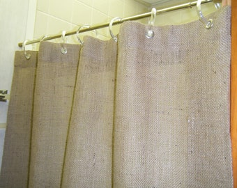 Burlap STALL Door Curtain 40 WIDE X 72 84 96 Long Premium In 5 Colors Grommet Top By Jackie Dix