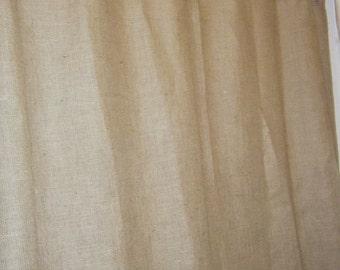 Burlap Shower Curtain 72 Wide X 96 Long Premium 5 Colors Grommet Top By Jackie Dix