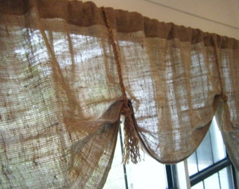 Jute Curtains Etsy