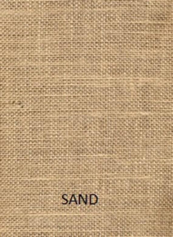 Burlap Valance Fringed on 3 Sides /'The Tiki Hut/' by Jackie Dix 42-108 W X 12L