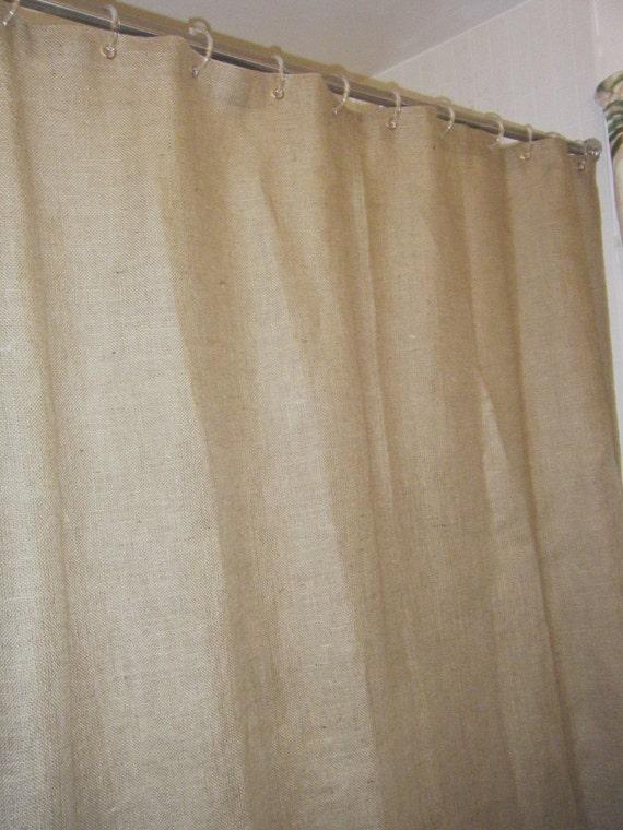 Burlap Shower Curtain 72 Wide X 72 96