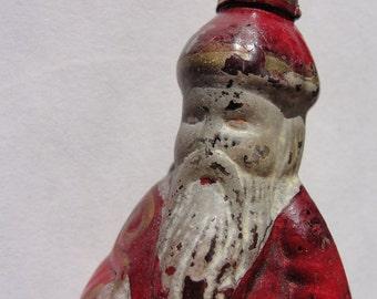 antique painted glass Saint Nicholas light bulb