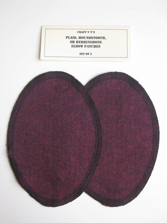 4 Assorted Colours Elbow Knee Iron On HKM Denim Jean Patches x 2 Oval