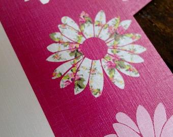 Pink Flower Trio - Stationery Set of 5