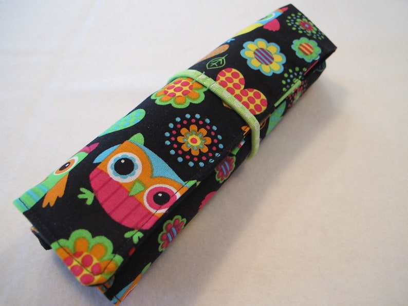 Colored pencils case includes pencils and book  Owls hearts coloring tween gift birthday party Valentine/'s Day Easter travel art supplies