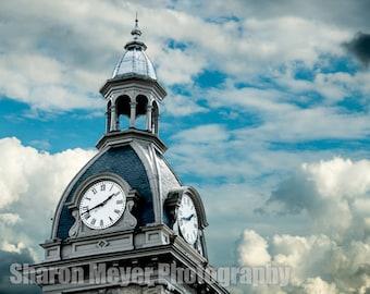 The Clock Tower 2 - Fine Art Photograph, Wall Art, Wall Decor, Fine Art Print, Brookville Indiana
