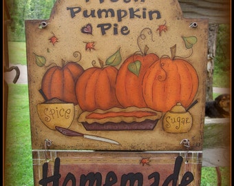 E PATTERN - Homemade Pumpkin Pie - design by Terrye French, Painted by Me, Sharon B. - FAAP