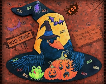 E PATTERN - BOO CREW! A fun, colorful crew of Halloween Critters! Designed & Painted by Sharon Bond