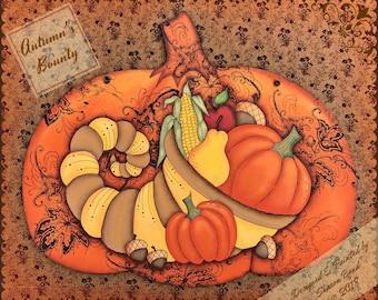 E PATTERN - Autumn's Bounty! Cornucopia Harvest - Designed & Painted by Sharon Bond