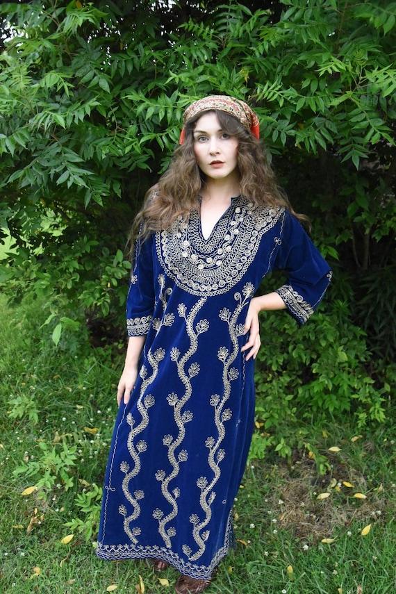 Royal Blue Velvet Maxi