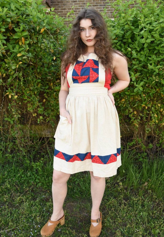 Patchwork Apron Dress