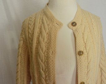 70s Cable Knit Cardigan