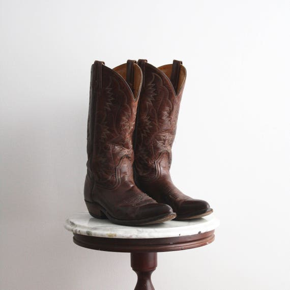 Cowboy Stiefel Vintage 9.5 Damens's Braun Leder Western Vintage Stiefel   Etsy 469de2