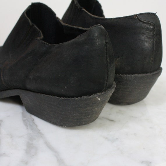 Cowboy Shoes 7.5 Women's Black Western Ankle Boot… - image 10