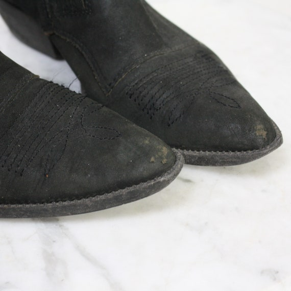 Cowboy Shoes 7.5 Women's Black Western Ankle Boot… - image 7