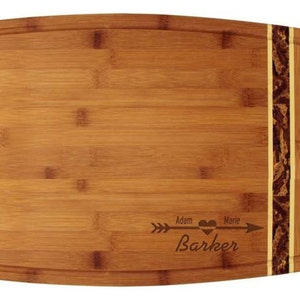 Personalized Indiana Cutting Board Custom Engraved Couples Gift Indiana Shaped Bamboo Cutting Board Wedding Gift Housewarming Gift