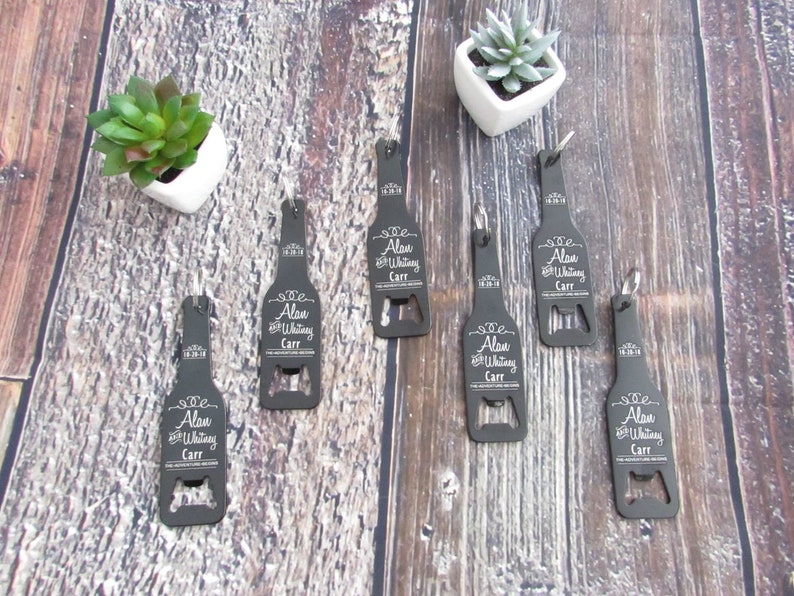 15 Of Personalized Bottle Shaped Bottle Opener Key Chain personalized party favor engraved metal wedding favor groomsman gift