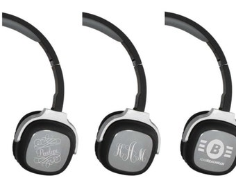 Bluetooth Wireless Headphones - Custom Head Phones, with Personalized Engraving and Controls on Headphones