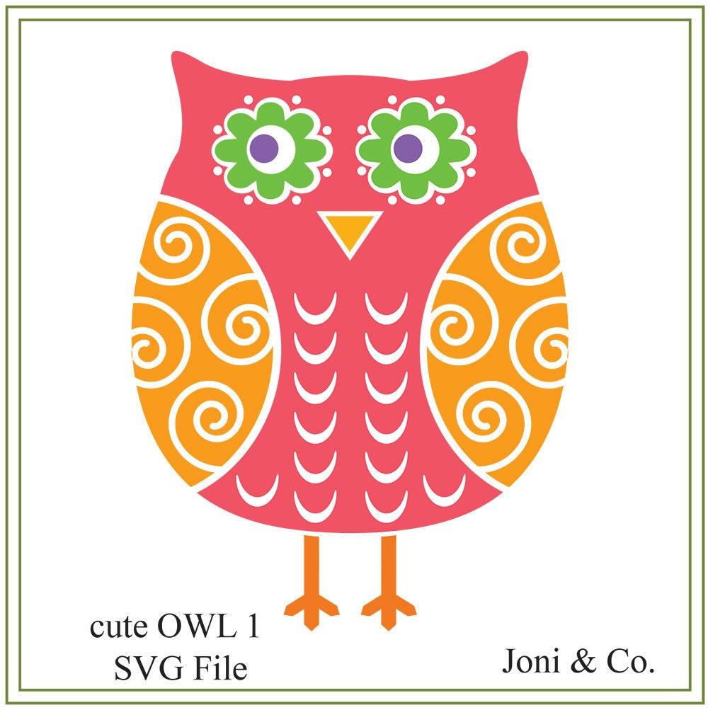 Cute Owl Svg Cute Owls Children Illustration Baby Svg Etsy