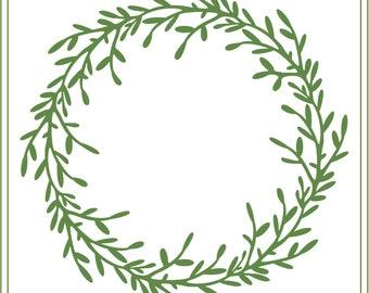 Wreath svg, Twig  wreath svg, Wedding wreath, monogram wreath, garden svg, Christmas svg, printable, Rustic Christmas, glass block svg, leaf