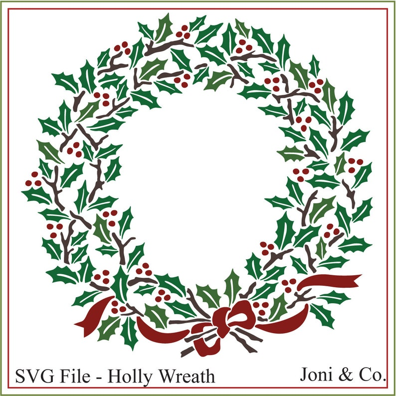 graphic regarding Wreath Printable identify Xmas svg, Xmas wreath svg, Holly wreath, printable, Xmas signal svg, playing cards, Holly and Berries, Xmas crafts, svg, wreath