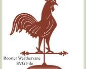 Rooster weathervane svg, Primitive, sign svg, printable, glass block design, Folk Art SVG, vinyl cutting, kitchen svg, iron on svg, chicken