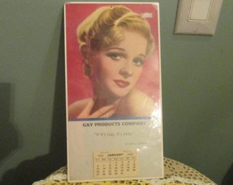 """Vintage 1950s Pinup Calendar / 1930s Gay Products """"If It's Gay, It's Ok"""""""