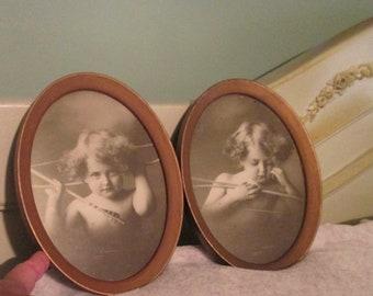Antique Cupid Prints Framed Set By M.B. Parkinson So Cute