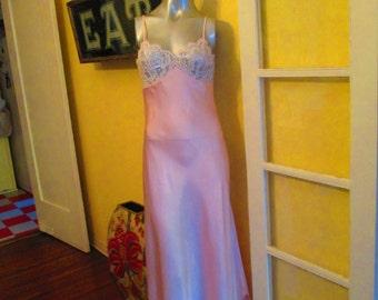 Vintage Lucie Ann Sexy Nightgown Rhinestone Bra Honeymoon