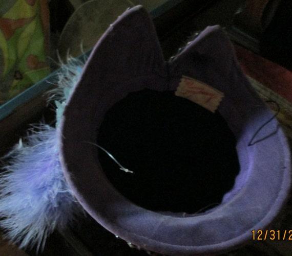 1940s Tilt Hat / Sunnycrest Original  / Silver Pu… - image 8